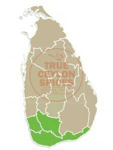 growing areas of cinnamon Sri Lanka
